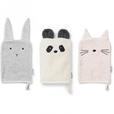 Lot de 3 gants de toilette Sylvester - Girlie