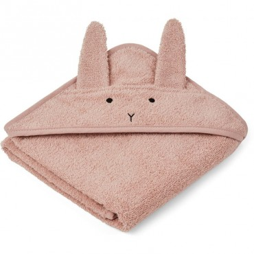 Cape de bain Albert - Lapin rose