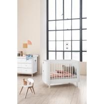 Lit bébé évolutif Wood Mini + - Blanc