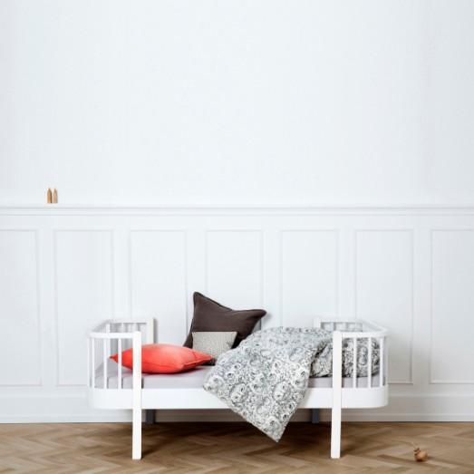 Lit Wood junior 90 x160 - Blanc