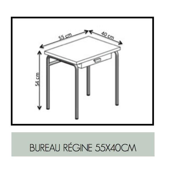 Bureau Régine Bleu canard - Pieds blancs