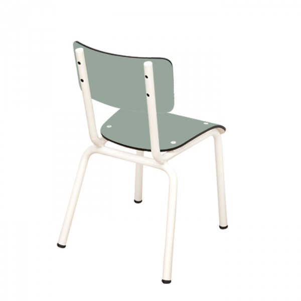 Chaise Little Suzie Kaki - Pieds blancs