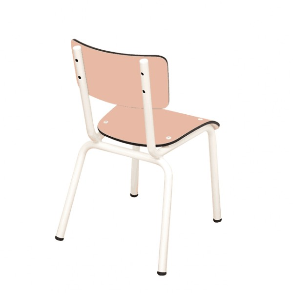 Chaise Little Suzie Saumon - Pieds blancs