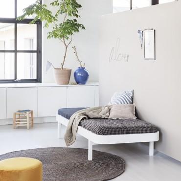 Lit Wood Lounger 90 x 200 - Blanc