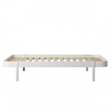Lit Wood Lounger 120 x 200 - Blanc
