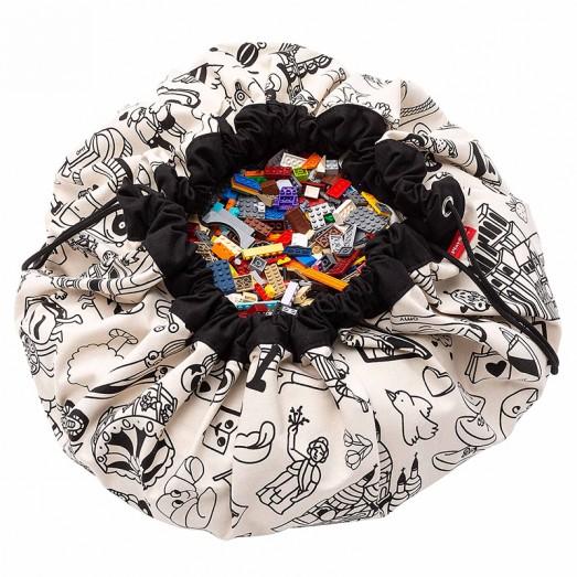 Tapis de jeu et sac de rangement Color My Bag Paris