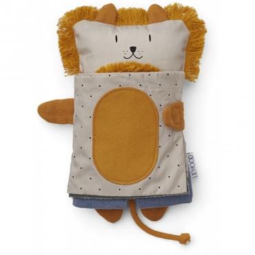 Livre d'éveil à toucher Karlo - Lion