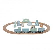 Circuit train en bois