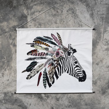 Porter à broder - Crazy Zebre