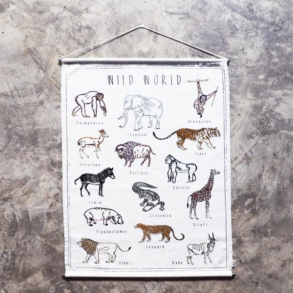Poster à broder School - Wild animals