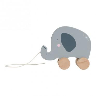 Jeu à tirer en bois - Eléphant
