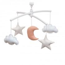 Mobile musical bébé - Lune et étoiles, Gold Rose