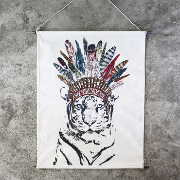 Poster à broder - Crazy Tigre