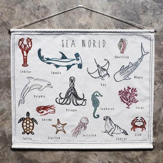 Poster à broder School - Sea world