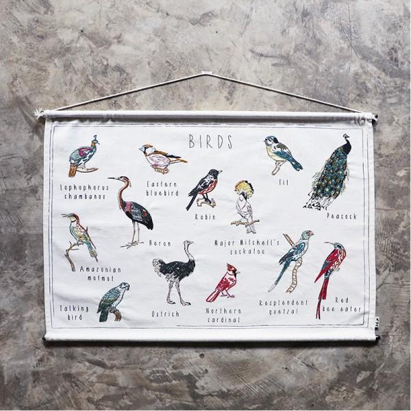 Poster à broder School - Birds