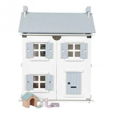 Maison de poupée en bois - Bleue