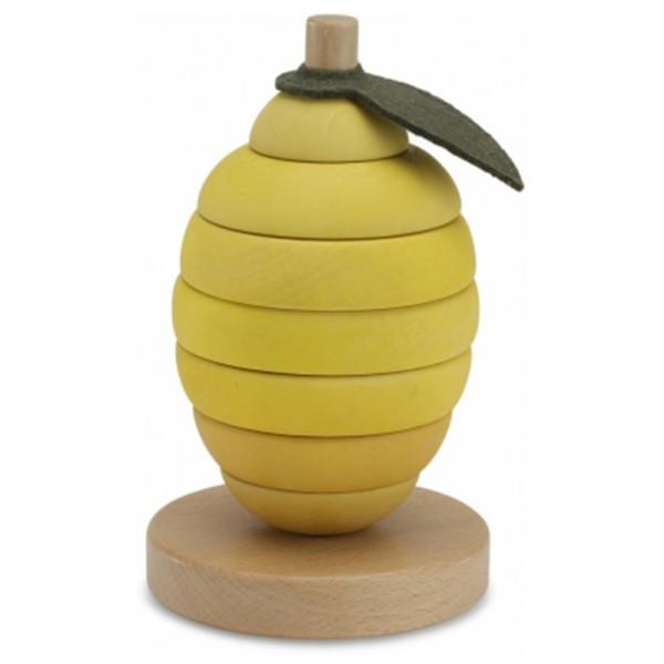 Anneaux à empiler fruit en bois - Citron