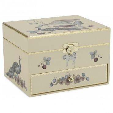 Boîte à bijoux musicale - Jaune