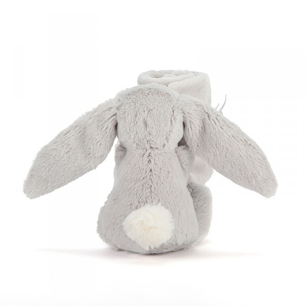 Doudou lapin - Bashful soother gris argent