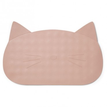 Tapis de bain silicone Storm - Chat rose