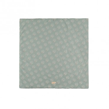 Tapis carré Colorado 100 x 100 cm - White Gatsby / Green antique