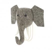 Patère en feutrine - Eléphant