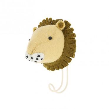 Patère en feutrine - Lion