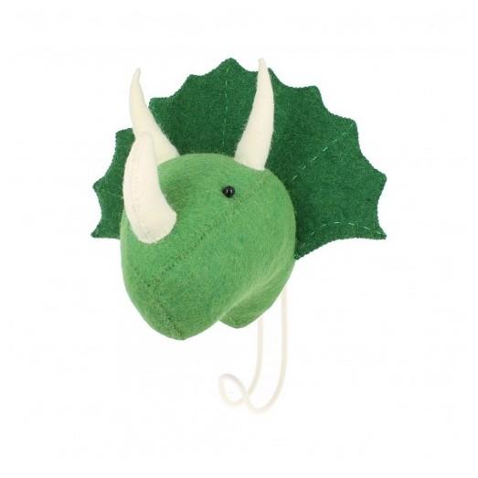 Patère en feutrine - Triceratops