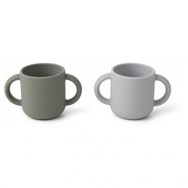 Lot de 2 tasses Gene - Lapin faune green