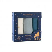 Pack 3 langes Love 70x70 cm - Bleu