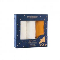 Pack 3 langes Love 70x70 cm - Jaune