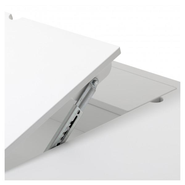 Bureau Wood H72.6 cm - Blanc et chêne