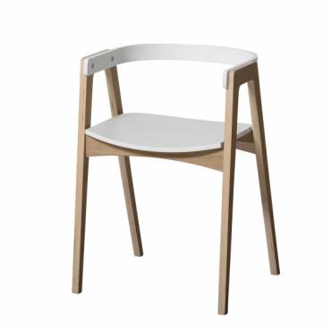 Chaise réglable en hauteur Wood - Blanc et chêne