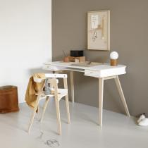 Ensemble bureau et chaise Wood - Blanc et chêne