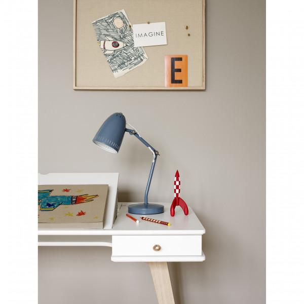 Bureau Wood hauteur 66 cm - Blanc et chêne