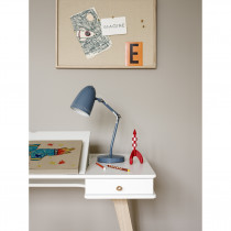 Bureau Wood - Blanc et chêne