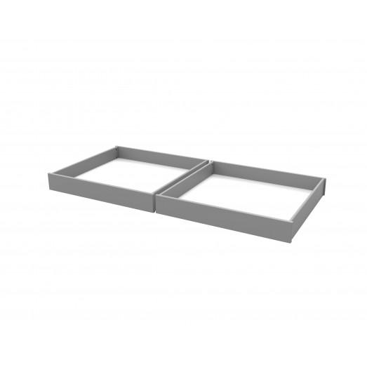 2 tiroirs de rangement Dominique - fond mdf mélaminé blanc