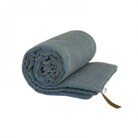 Couverture d'hiver 140x190cm - Bleu gris