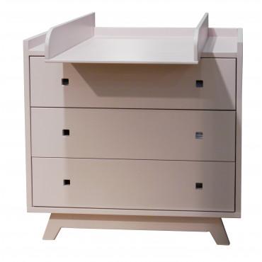 Commode 3 tiroirs et plan à langer - Madavin