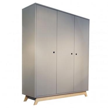 Armoire 3 portes Madavin gris ciment