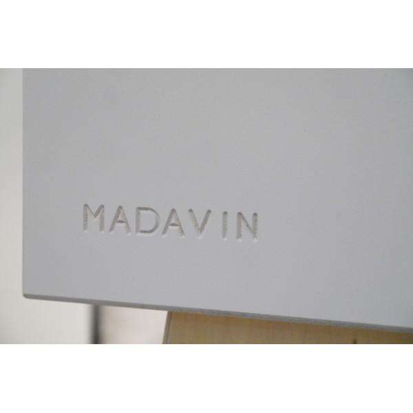 Table de chevet Madavin - pieds bouleau