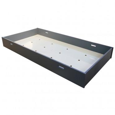 Tiroir-lit pour lit Madavin et lit Madaket - Fond mdf blanc - coloris gris orage