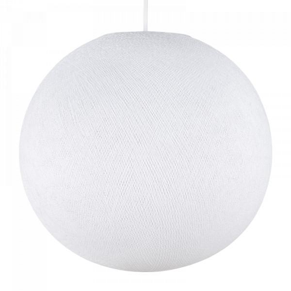 Abat-jour Globe avec sa suspension électrique - Blanc