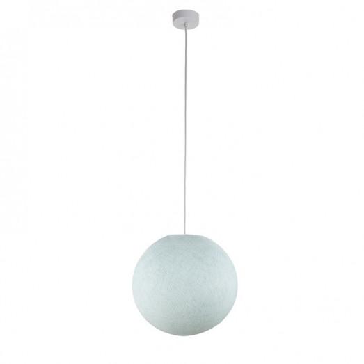 Suspension lumineuse avec abat-jour globe - Bleu azur