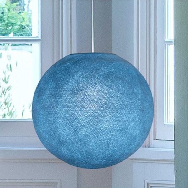 Suspension lumineuse avec abat-jour globe - Denim