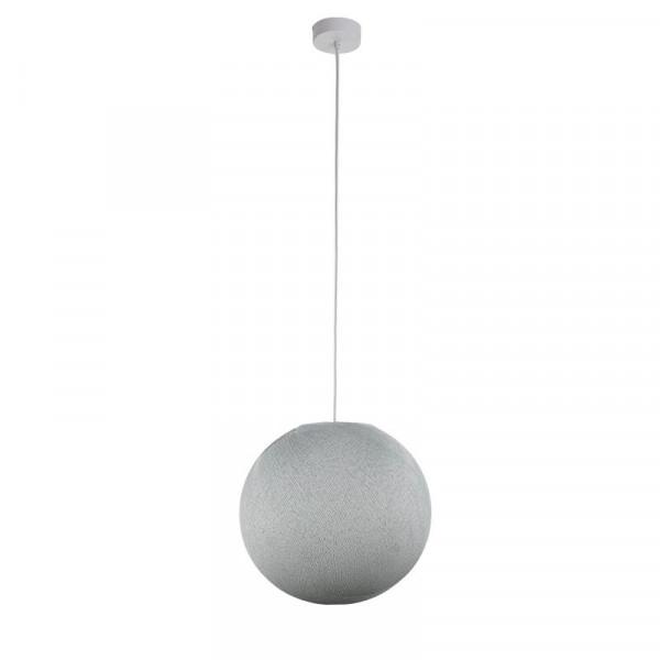 Suspension lumineuse avec abat-jour globe - Gris perle