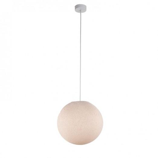 Suspension lumineuse avec abat-jour globe - Lin