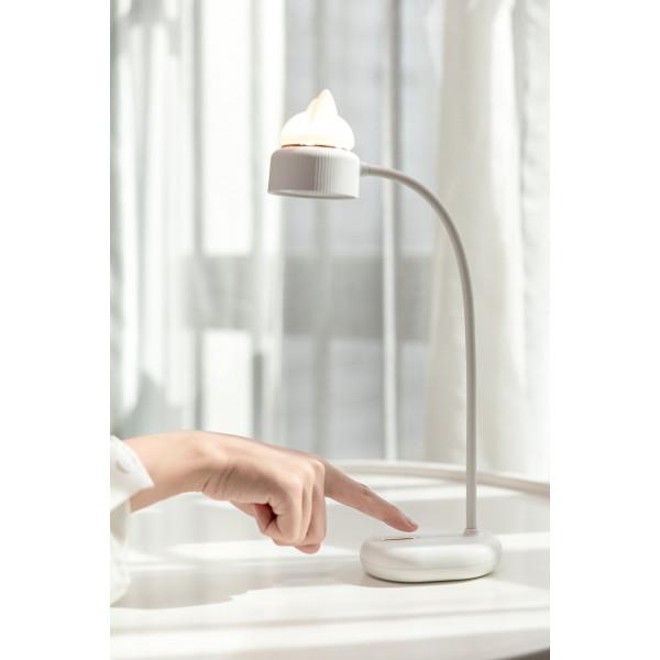 Lampe veilleuse LED dual - Chat - Blanc