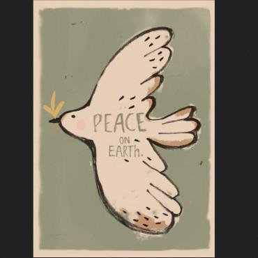 Affiche 50 x 70 cm - Peacebird