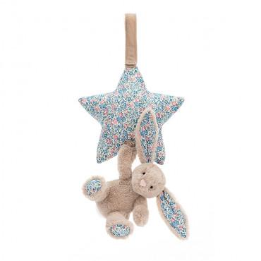 Boite à musique étoile lapin - Bashful blossom taupe